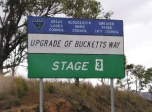 Bucketts Way sign